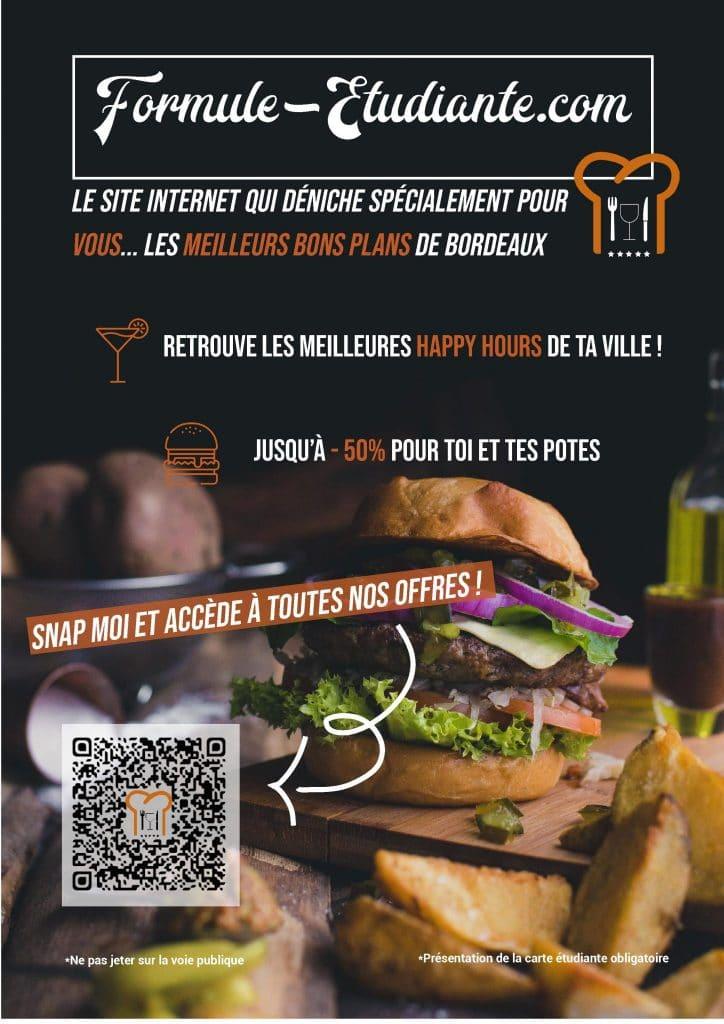 affiche promotionnelle lancement du concept formule etudiante