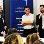 Ugo philippe, Pierre marsanne et Christopher petit à la conférence business week à l'inseec business school bordeaux avec le cabinet Extencia