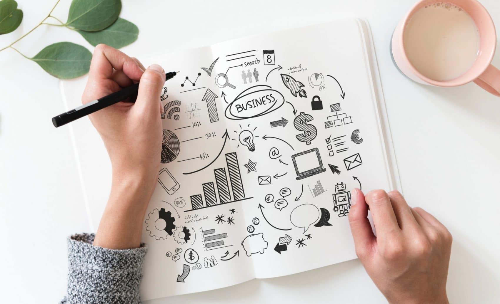 image créer son entreprise et étude de marché