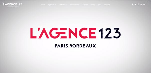 meilleures agences web bordeaux : L'agence 123