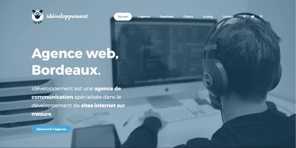 meilleures agences web bordeaux : Ideveloppement