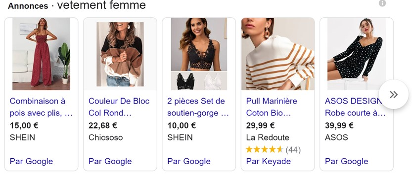 référencement payant campagne google shopping